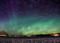 foto dell'aurora boreale